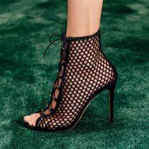 Arden Furtado Summer Fashion Women's Shoes Sexy Elegant mesh Sandals Elegant Short Boots ladies sandals party shoes