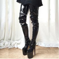 Arden Furtado Fashion Women's Shoes Round toe Stilettos Heels Zipper platform Over The Knee thigh High Boots big size 46
