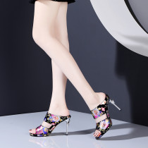 Arden Furtado Summer Fashion Trend Women's Shoes Novelty Stilettos Heels  Flower Sexy Elegant Peep Toe  Slippers Concise Mature