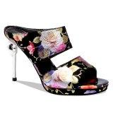 Arden Furtado Summer Fashion Trend Women's Shoes Novelty Stilettos Heels  Flower Sexy Elegant Peep Toe  Slippers Concise Mature