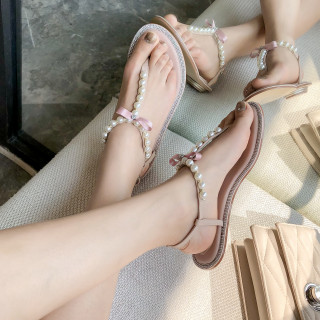 Arden Furtado Summer Fashion Trend Women's Shoes  Sexy Elegant Pure Color nude pink Pearl Narrow Band Sandals Classics Buckle