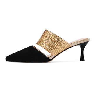 Arden Furtado Summer Fashion Trend Women's Shoes Pointed Toe Stilettos Heels Sexy Elegant Slippers Mules Concise Office lady