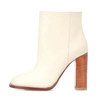 Arden Furtado Fashion Women's Shoes Winter Chunky Heels Elegant Ladies white Boots pure color Slip-on Short ankle Boots