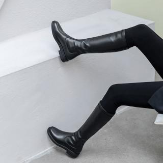 Arden Furtado Fashion Women's Shoes Winter  pure color Knee High Boots Concise Mature Concise cowhide Mature Knee High Boots