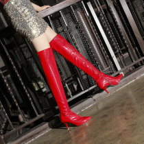 Arden furtado Winter Red White Black Stilettos heels zipper Women's boots Over the knee boots small size 32 33