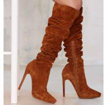 Arden furtado Winter spring autumn Stilettos heels Fashion stilettos heels knee high boots big size 40
