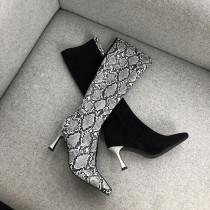 Arden Furtado Fashion Women's Shoes Winter  Pointed Toe Stilettos Heels Zipper  Sexy Elegant Ladies Boots Leather Concise Mature