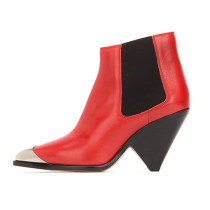 Arden Furtado Fashion Women's Shoes Winter Pointed Toe Special-shaped Heels sexy Elegant Ladies Boots pure color Short Boots