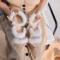 Arden furtado summer Stilettos heels Elegant Personality Grey Black Fashion women's shoes fur sandals