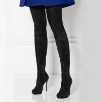 Arden Furtado Fashion Women's Shoes Winter round Toe Stilettos Heels Zipper Sexy Elegant Ladies Boots