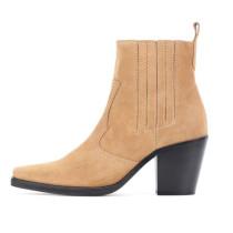 Arden Furtado Fashion Women's Shoes Square Head Chunky Heels Silver Women's Boots Matin boots Big size
