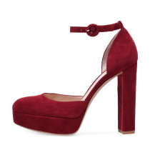 Arden Furtado Summer Fashion Trend Women's Shoes Pointed Toe Chunky Heels  Sexy Elegant pure color Sandals Buckle Party Shoes