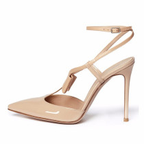 Arden Furtado Summer Fashion Trend Women's Shoes Pointed Toe Stilettos Heels Sexy Elegant Buckle pure color Sandals Party Shoes