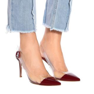 Arden Furtado Summer Fashion Trend Women's Shoes Pointed Toe PVC Stilettos Heels  Sexy Elegant Buckle Classics Mature Shallow