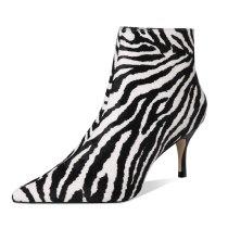 Arden Furtado Fashion Women's Shoes Winter Pointed Toe Stilettos Heels Zipper Classics Sexy Elegant Ladies Boots Short Boots