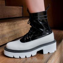 Arden Furtado Fashion Women's Shoes Winter Sexy Elegant Ladies Boots Cross Lacing  Classics Leather Matin Boots Big size 42