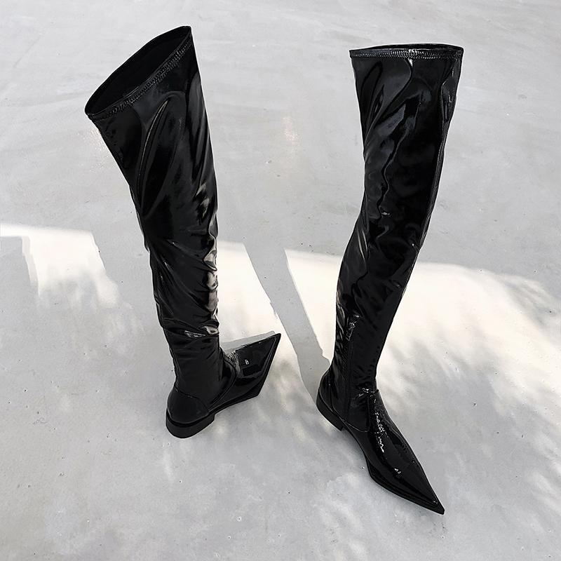 Knee Thigh High Boots flat booties