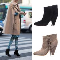 Arden Furtado Fashion Women's Shoes Winter Pointed Toe  Sexy Elegant Ladies Boots pure color Elegant Short Boots Matte Concise