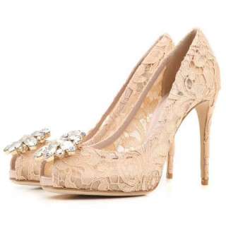Fashion crystal rhinestone decoration women's shoes peep toe stilettos heels women's peep toe pumps large size 42 43