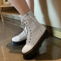 Arden Furtado Fashion Women's Shoes Winter  Sexy Elegant Ladies Boots Concise pure color Cross Lacing Women's Boots Matin Boots