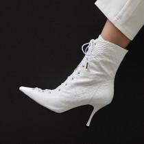 Arden Furtado Fashion Women's Shoes Winter Pointed Toe Stilettos Heels Zipper pure color Elegant Women's Boots Short Boots