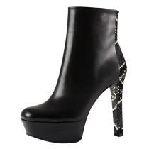 Arden Furtado Fashion Women's Shoes Winter   Sexy Elegant Ladies Boots Waterproof Concise Elegant Leather Classics Short Boots