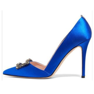 Arden Furtado Summer Fashion Trend Women's Shoes Pointed Toe Stilettos Heels  blue  Sexy Elegant Slip-on pure color Party Shoes