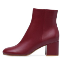 Arden Furtado Fashion Women's Shoes Winter Pointed Toe Chunky Heels Zipper  Sexy Elegant Ladies Boots Concise pure color