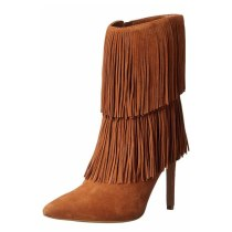 Arden Furtado Fashion Women's Shoes Winter brown  Fringed Pointed Toe Stilettos Heels Sexy Elegant Ladies Boots pure color