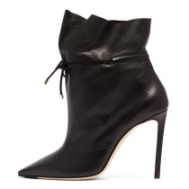 Arden Furtado Fashion Women's Shoes Winter  Pointed Toe Stilettos Heels Sexy Elegant Ladies Boots Concise Mature Cross Lacing