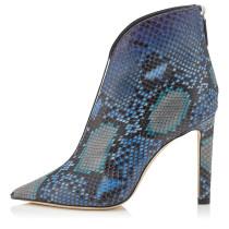 Arden Furtado Fashion Women's Shoes Winter  Pointed Toe Stilettos Heels Classics  Serpentine Sexy Elegant ankle boots