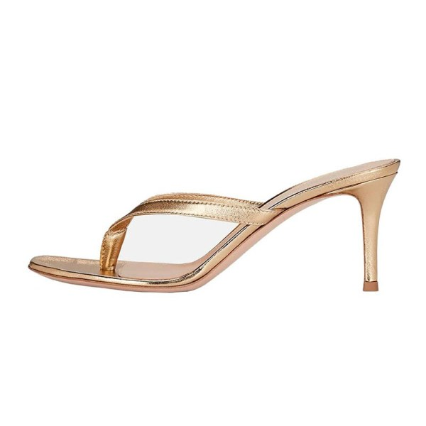 Arden Furtado Summer Fashion Trend Women's Shoes Stilettos Heels  Sexy Elegant  pure color Concise Classics Slippers Leather