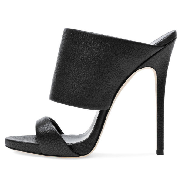 Arden Furtado Summer Fashion Women's Shoes Pointed Toe Stilettos Heels  Sexy Elegant pure color Slippers Personality Leather