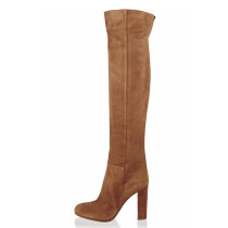 Arden Furtado Fashion Women's Shoes Winter Pointed Toe Chunky Heels Zipper  Sexy Elegant Ladies Boots Over The Knee High Boots