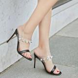 Arden Furtado Summer Fashion Trend Women's Shoes  Stilettos Heels Sexy Elegant pure color Concise Mature Classics  Big size 43