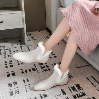 Arden Furtado Fashion Women's Shoes Winter Pointed Toe   Sexy Elegant Add Wool Upset pure color Slip-on Classics Slip on