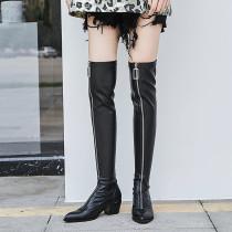 Arden Furtado Fashion Women's Shoes Winter  Pointed Toe Elegant Ladies Boots Concise pure color Women's Boots Front zipper
