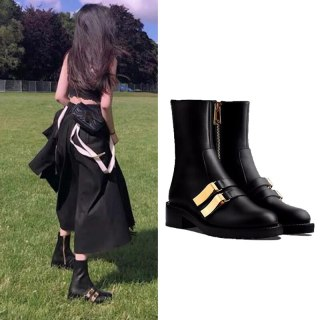 Arden Furtado Fashion Women's Shoes Winter Leather pure color Front zipper Short Boots Personality Classics Leather Mature