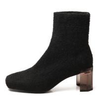Arden Furtado Fashion Women's Shoes Winter  Sexy Elegant pure color  khaki Slip-on Mature Elegant Women's Boots Short Boots