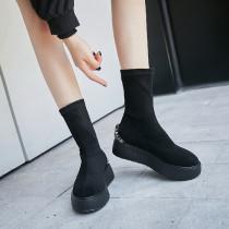 Arden Furtado Fashion Women's Shoes Winter  pure color Short Boots Leisure Round Toe Classics Mature  Crystal Rhinestone Slip on