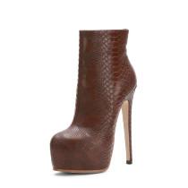 Arden Furtado Fashion Women's Shoes Winter Sexy Elegant Ladies Boots pure color zipper Waterproof Short Boots Leather Classics