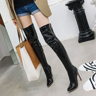 Arden Furtado Fashion Women's Shoes Winter Pointed Toe Stilettos Heels Elegant Ladies Boots Concise Over The Knee High Boots