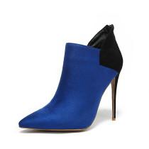 Arden Furtado Fashion Women's Shoes Winter Pointed Toe Stilettos Heels Zipper Elegant Ladies Boots Concise Mature Short Boots