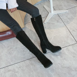 Arden Furtado Fashion Women's Shoes Winter Sexy Elegant Ladies Boots Classics Concise Mature pure color Knee High Boots Matte