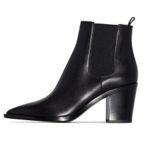 Arden Furtado Fashion Women's Shoes Winter Pointed Toe Chunky Heels pure color  Sexy Elegant Ladies Boots Concise Mature Slip-on