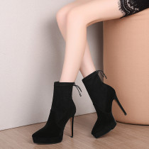 Arden Furtado Fashion Women's Shoes Winter  Pointed Toe Stilettos Heels  Sexy Elegant Ladies Boots Concise pure color Short Boot
