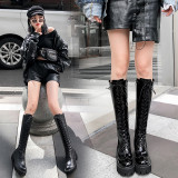 Arden Furtado Fashion Women's Shoes Winter  Sexy Elegant Ladies Boots Concise Mature pure color Waterproof Knee High Boots