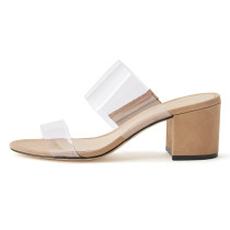 Arden Furtado Summer Fashion Trend Women's Shoes PVC  Sexy Elegant pure color white apricot Concise Novelty Classics Slippers