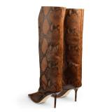 Arden Furtado Fashion Women's Shoes Winter  Serpentine Pointed Toe Stilettos Heels  Slip-on  Sexy Elegant Ladies Boots Concise Mature Knee High Boots
