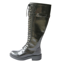 Arden Furtado Fashion Women's Shoes Winter Cross Lacing Sexy Elegant Ladies Boots Concise Mature Round Toe Knee High Boots